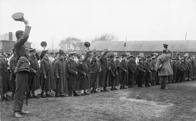 The 2nd Battalion of the Royal Munster Fusiliers at Aldershot in 1914