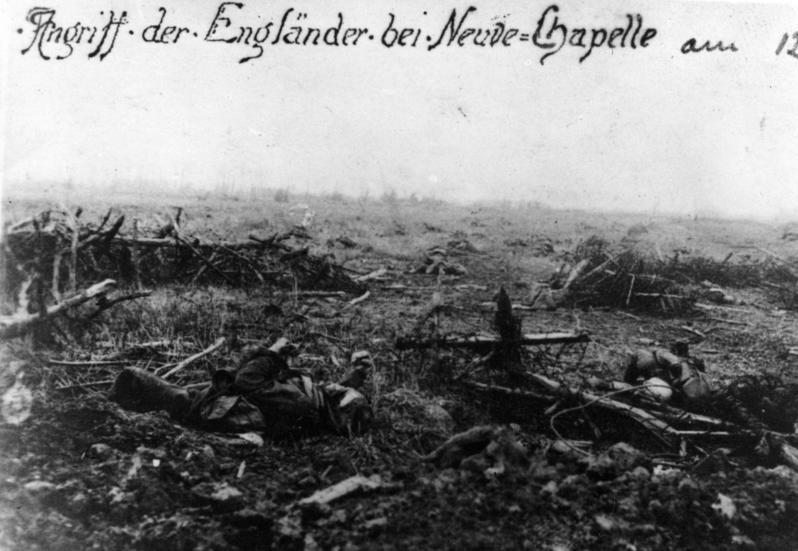 Frankreich, Neuve Chapelle, Schlachtfeld